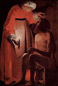 Job Mocked by his Wife Georges de La Tour (17th c.)
