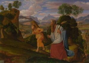 Abraham and Isaac, Ferdinand von Olivier (1817)
