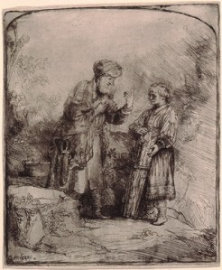Abraham and Isaac, Rembrandt (1645)